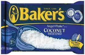 Baker's Angel Flake Coconut Sweetened (2 pack) 7-Ounces each bag