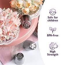 Cake&Deco Russian Piping Tips Set – 93pcs Cake Decorating Baking Supplies Kit