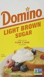 Domino Premium Pure Cane Light Brown Sugar, 1 lb