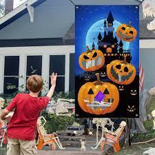 JETEHO Halloween Bean Bag Toss Game with 4 Bean Bags,