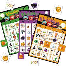 LUED Halloween Bingo Game for Kids, 24 Players Halloween Game