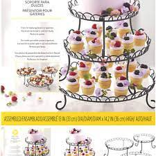 Wilton 3-Tier Customizable Scalloped Dessert and Cake Stand, 13-Inch