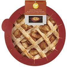 Wilton Adjustable Silicone Pie Crust Shield, 9 inch, Orange
