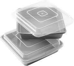 Wilton Recipe Right Non-Stick 9-Inch Square Baking Pan With Lid